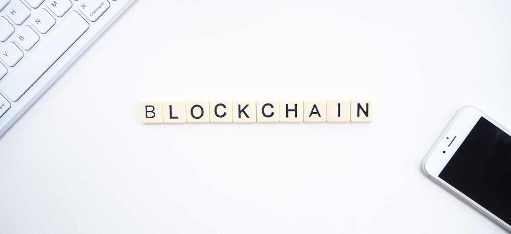 blockchain spelled in letters